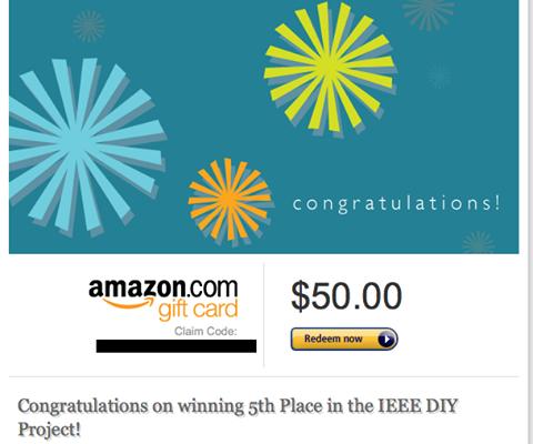 Διάκριση στο Παγκόσμιο Κατασκευαστικό Διαγωνισμό IEEE DIY Project